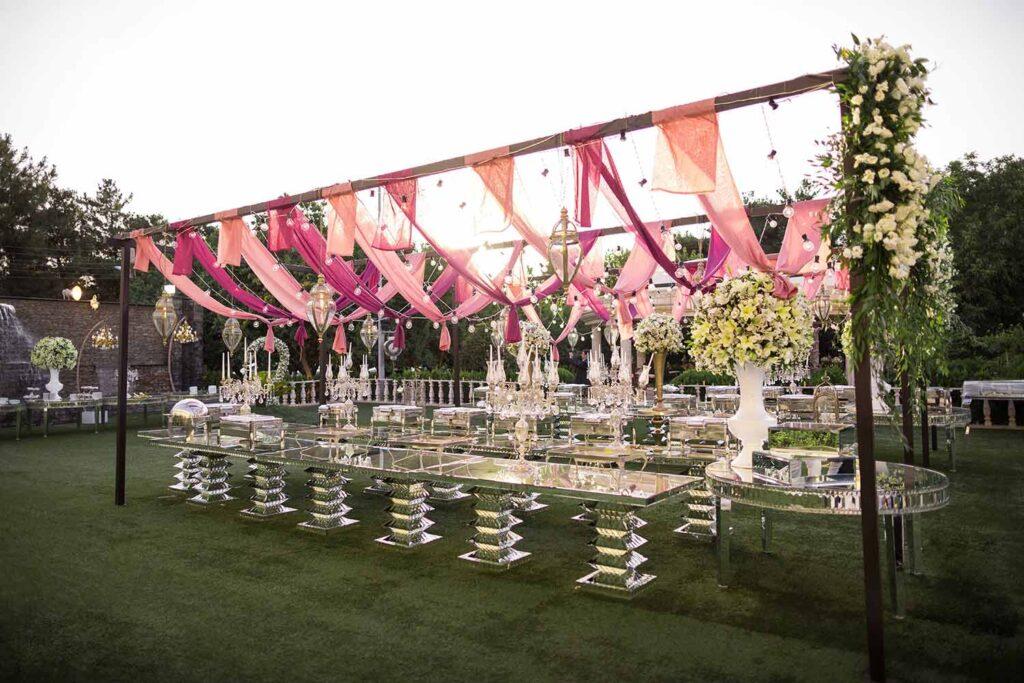 عقد و عروسی در باغ تالار والا